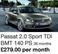 Passat 2.0 Sport TDI - £279.00