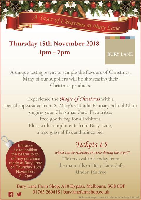 Bury Lane A Taste Of Christmas 2018