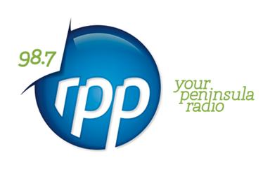 98.7 rpp your peninsula radio logo