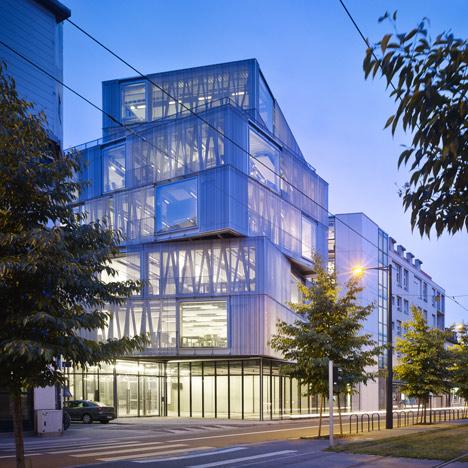 Aluminium-clad building by Marc Mimram added to Strasbourg architecture school