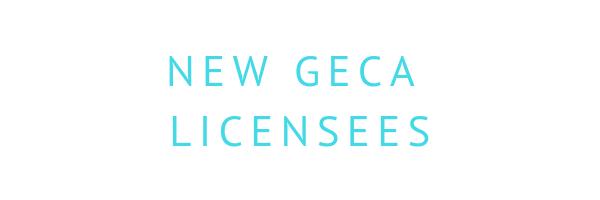 New GECA Licensees