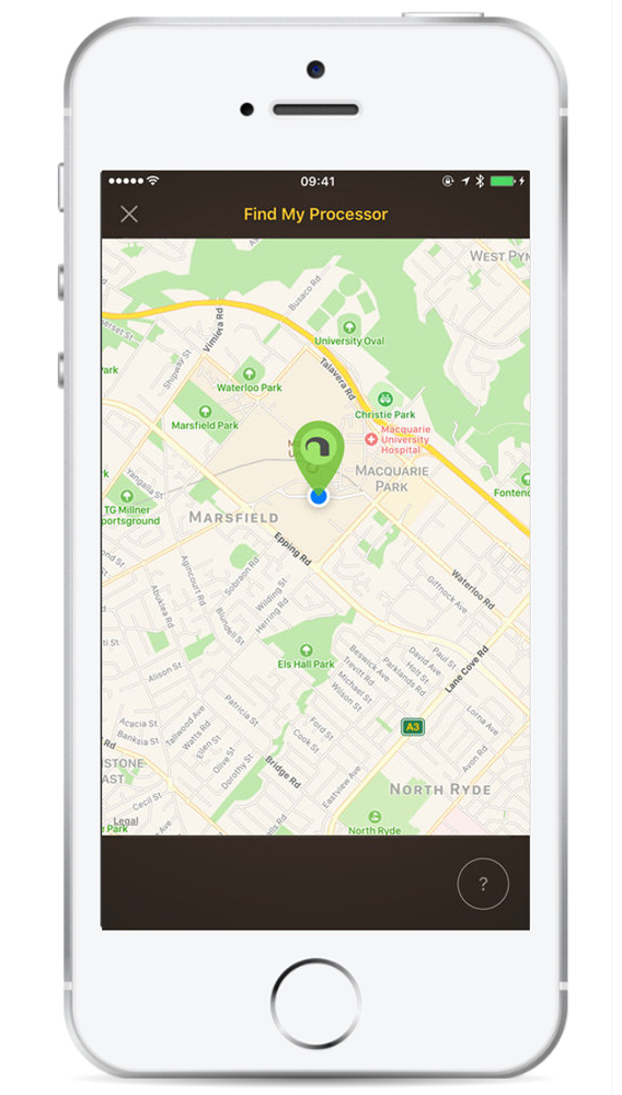 Photo of iPhone with a map