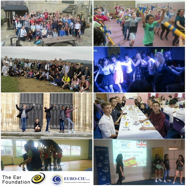 Collage of various activities at European Friendship Week 2017