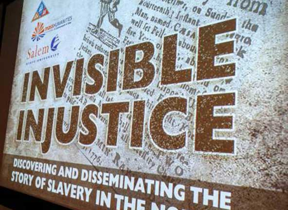 Image of symposium poster titled invisible injustice