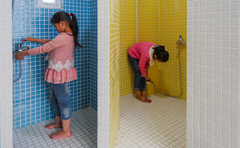 Hygiene station designed by DOMAT