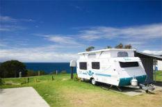 motorhome overlooking beach