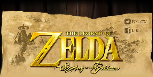 The Legend of Zelda: Symphony of the Goddesses Header