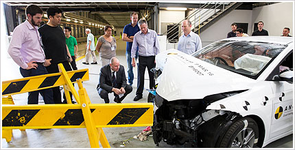 Euro NCAP visits ANCAP