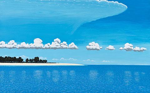 seascape by Segar Passi,'Stima kor kor'
