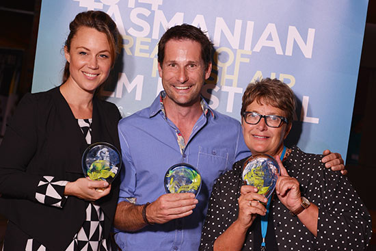 BOFA Devil Award winners Sara Cooper, Chris Pattinson and Trish Lake
