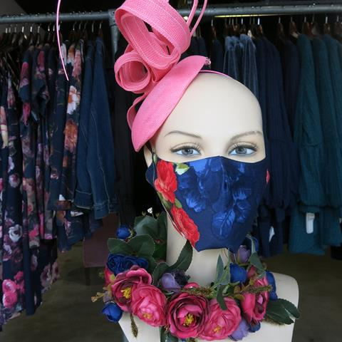 Masked mannequin at Annah Stretton, The Colombo