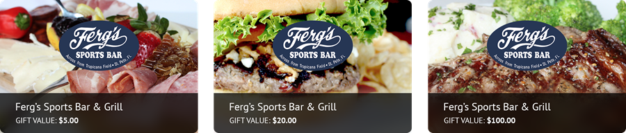Ferg's Gift Cards Available!