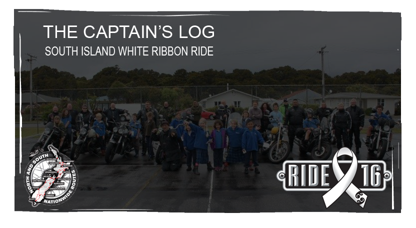 click here to read the Captain's log from the White Ribbon Ride