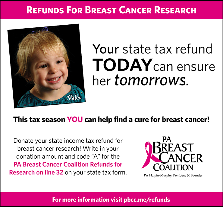 Donate to PA Breast Cancer Research this Tax Season!