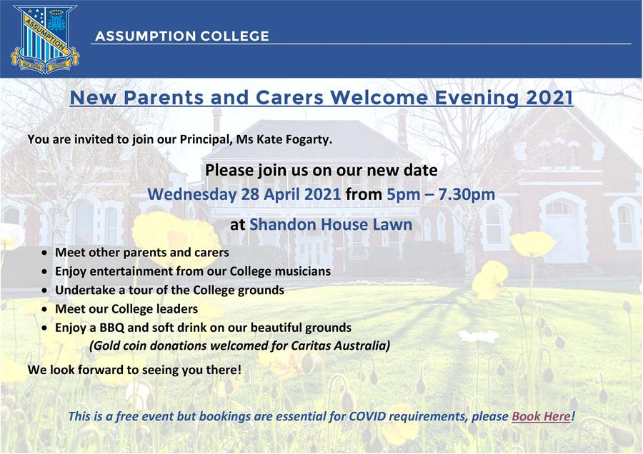 New Parent Welcome Event Flyer