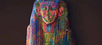 Colourful Egyptian coffin
