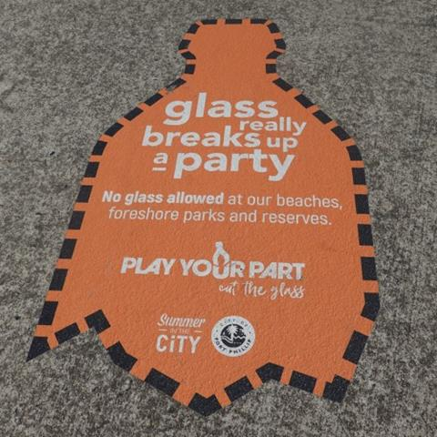 Play your part footpath sticker