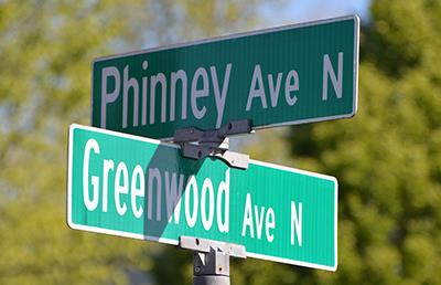 street signs: Phinney and Greenwood