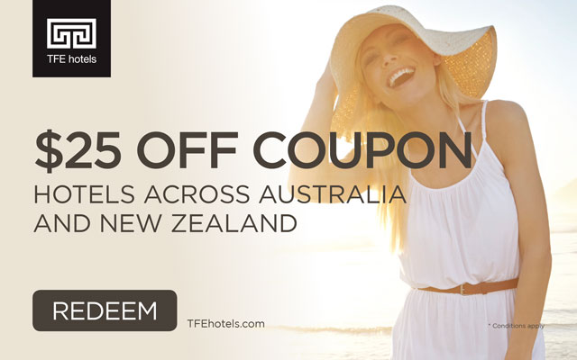 25% Off Coupon with TFE Hotels