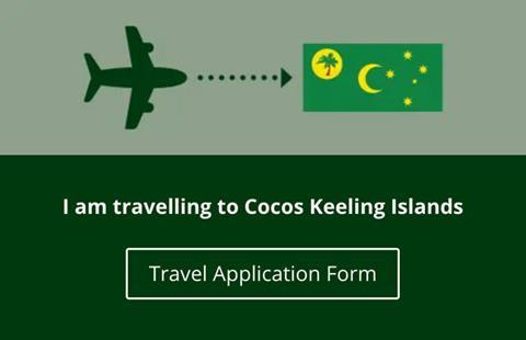 Cocos Keeling Islands Travel Application Form