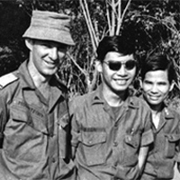 Richard Mountfort, AATTV, with South Vietnamese soldiers, 1971
