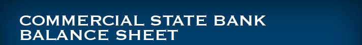 Commercial State Bank Balance Sheet