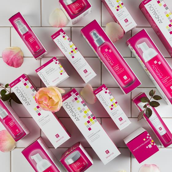 Andalou Naturals 1000 Roses skin care products