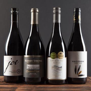 Four bottles of Pinot Noir