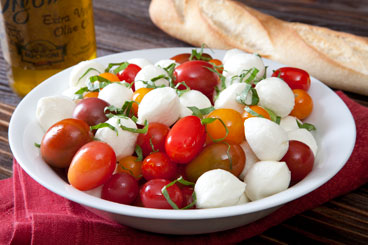 Cherry Heirloom Caprese Salad