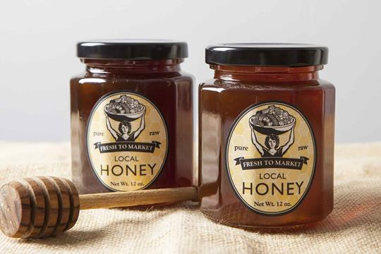 Fresh to Market honey in jars