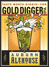 Auburn Aalehouse Gold Digger IPA label