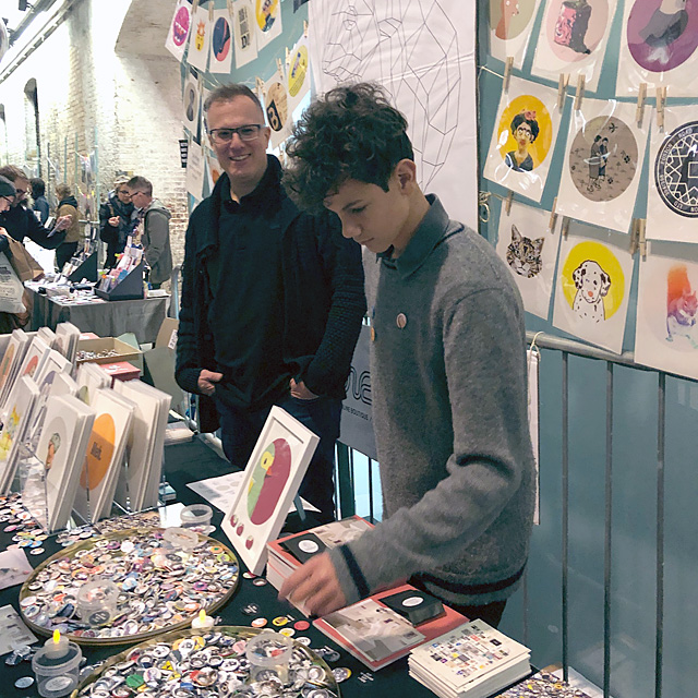 Photo from House of Illustration's Winter Fair 2018