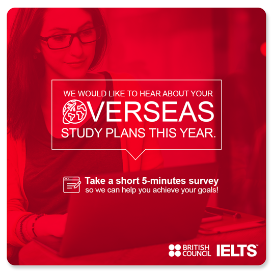 Overseas study plans survey banner