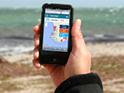 Smart phone showing Sharksmart website