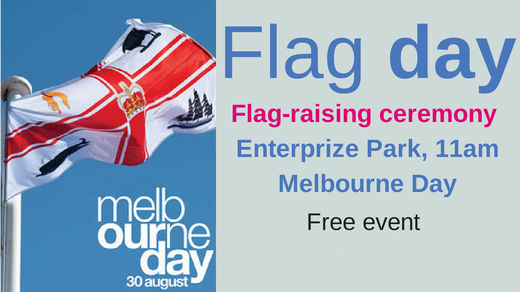 Melbourne Day flag raising ceremony
