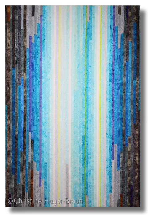 Soular Power Fabric Art by Christine Hager-Braun