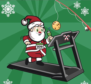 Picture of Santa on a Treadmill