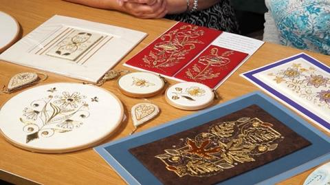 Learning about Contemporary Goldwork with Kathleen Laurel-Sage