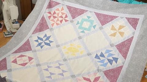 Thangles Sampler with Flurry Fabrics with Valerie Nesbitt