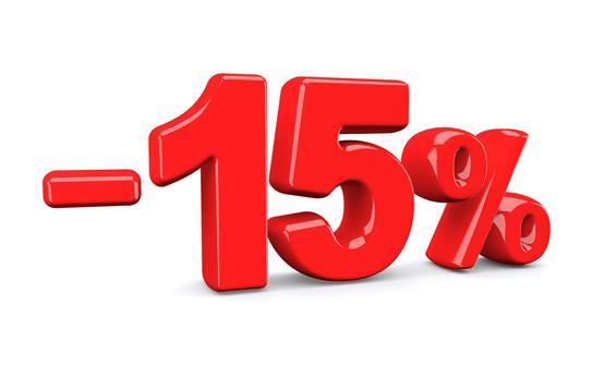 -15% extra korting