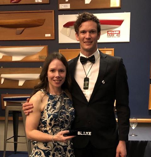 Operations manager recieves the Blake Leadership award
