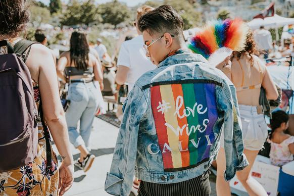 Person at San Francisco Dyke March 2018