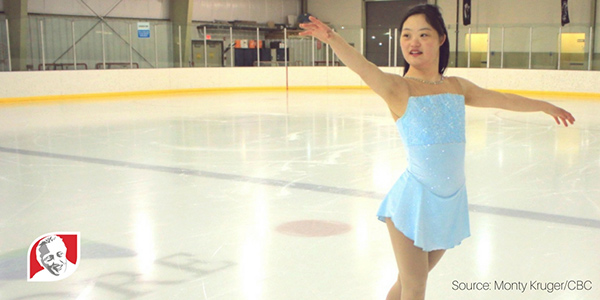 Meg Ohsada, Canadian girl with Down syndrome, figure skating