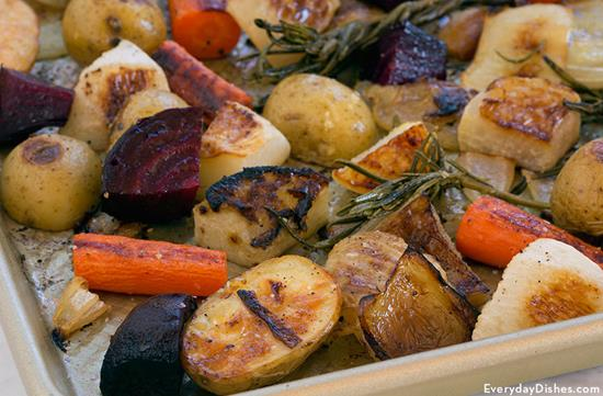 Roasted Beets, Carrots and Potatoes