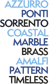 Azzurro, Ponti, Sorrento, Marble, Brass, Amalfi, Pattern, Timeless