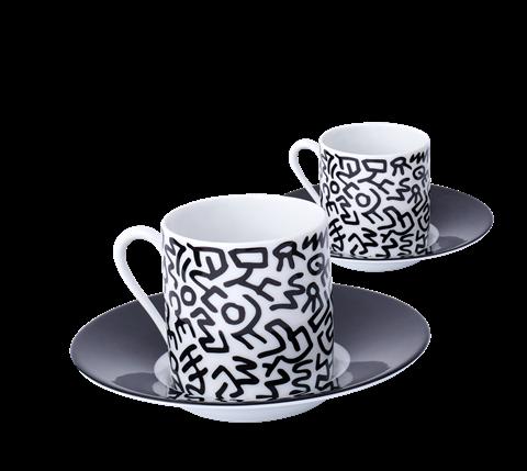 Keith Haring Black Espresso Set