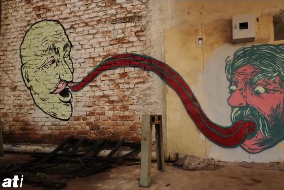 Haifa v Querétaro street art stop motion mindlfip
