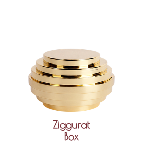 Ziggurat Brass Box