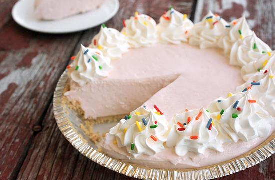 No-bake pink lemonade pie