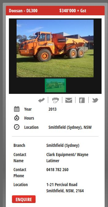 Screenshot from the mobile-responsive Used Equip website